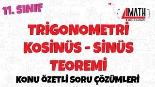 Trigonometri  Kosinüs ve Sinüs Teoremi - Konu Özetli Soru Çözümleri