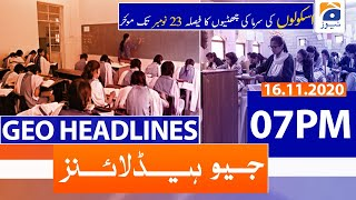 Geo Headlines 07 PM | 16th November 2020