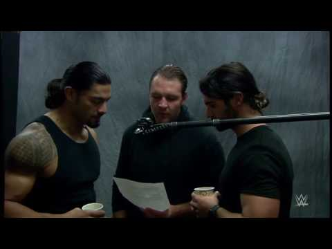 WWE The Shield recording the beginning of their...