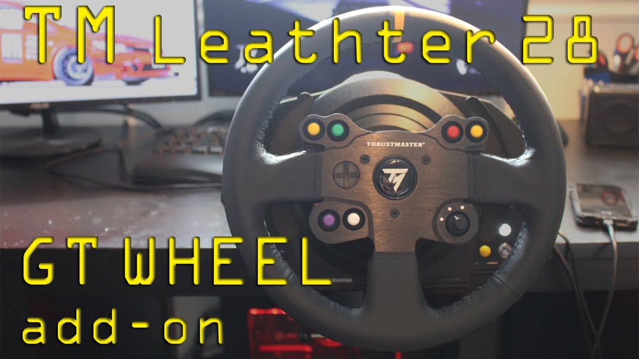 thrustmaster leather 28 gt wheel add on unboxing and. Black Bedroom Furniture Sets. Home Design Ideas