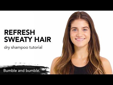 How To Use New Dry Shampoo Mist For Sweaty Hair | Post Workout Dry Shampoo Mist | Bumble And Bumble.