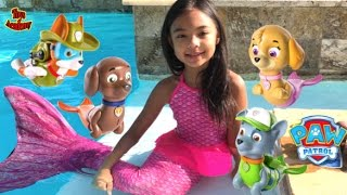 paw patrol magic mer pups paddlin pup swimming with real mermaid toys academy