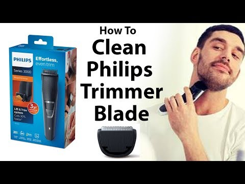 Philips Trimmer Clean -  Open Blade Assembly, Care & Trimmer Cleaning Tutorial