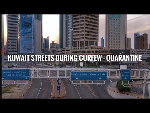 Kuwait City streets during curfew