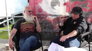 Lamb of God Talk Certified Gold Albums with Tigman at Rock 'N Derby