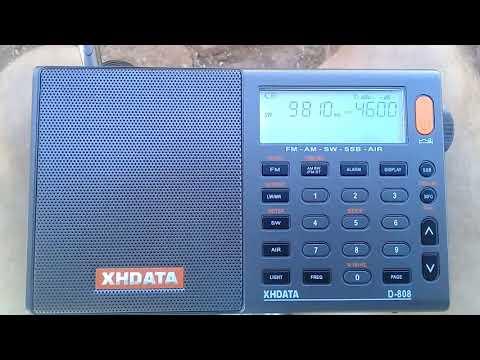 Escuta CNR 2- China Business Radio(9810khz) com XHData D-808