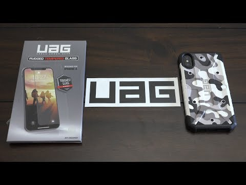 UAG Limited Edition Camo Series and Glass Screen Shield for iPhone X