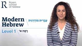 Rosen School of Hebrew - Modern Hebrew, Level 1. thumbnail