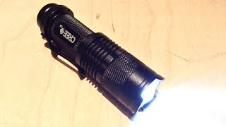 $5 UltraFire 7w 300lm mini cree LED adjustable focus zoom tactical torch flashlight