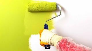видео Покраска стен водоэмульсионной краской своими руками