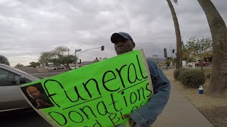 Panhandler 'Caught Misbehaving' in Phoenix when using activist's photo to get donations