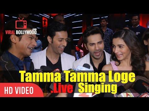 Shaan Singing In Bappi Lahiri Voice | Tamma Tamma Loge Live Singing | Varun Dhawan, Alia Bhatt