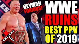 WWE RUINS BEST PPV of 2019 + Paul Heyman Unhappy! (WWE Extreme Rules 2019 Review)