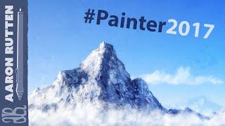 Digital Art Speed Painting Landscape - Misty Mountain (Corel Painter 2017)