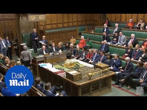 Theresa May WALKS OUT as Corbyn calls no confidence vote