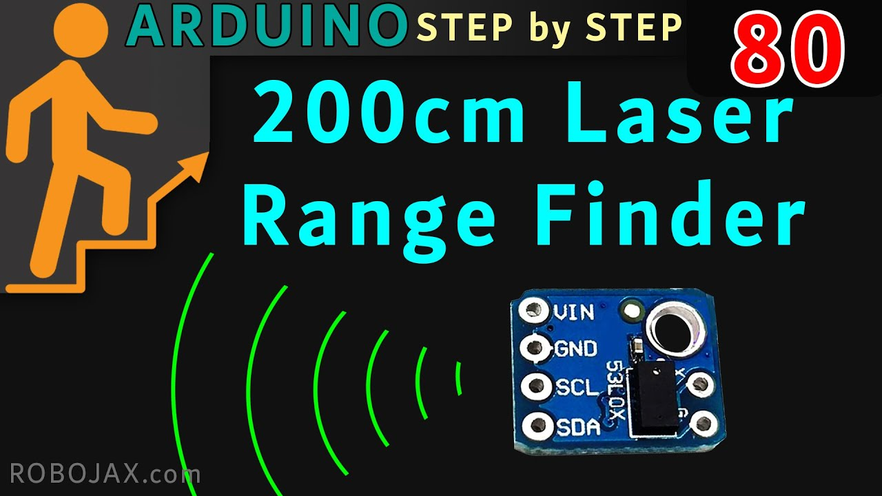 How to measure distance with VL53L0X laser distance meter for Arduino