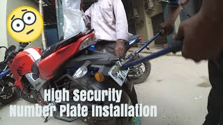 High Security Number Plate Installation on TVS Apache 160 4v