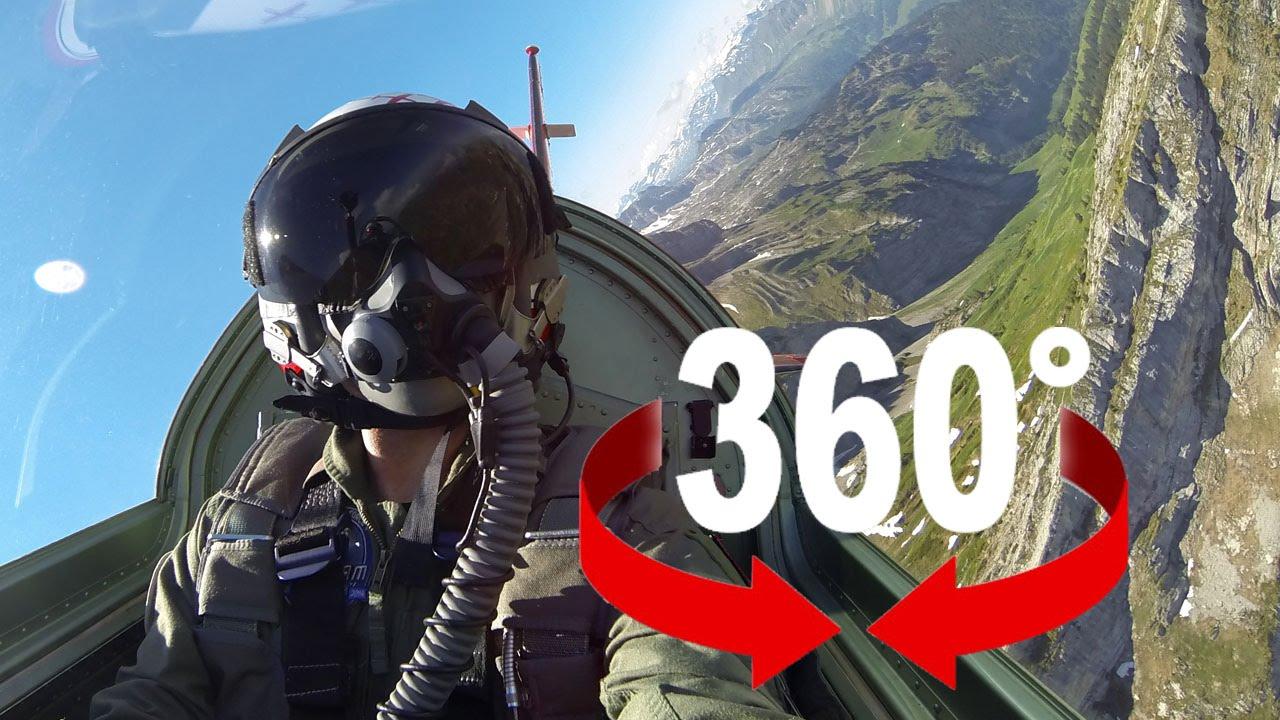 360° cockpit view | PC 7 Flight Training | Swiss Air Force