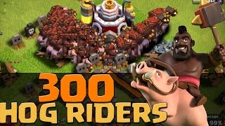 300 x Level 6 Hog Riders Attack!! EPIC RAIDS | Dev Build | Clash of Clans