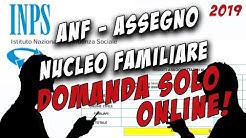 Tutorial Assegno Familiare 2019 online -  telematico