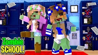 ZOMBIES TAKE OVER LITTLE LIZARD HIGH | Minecraft Little Carly.