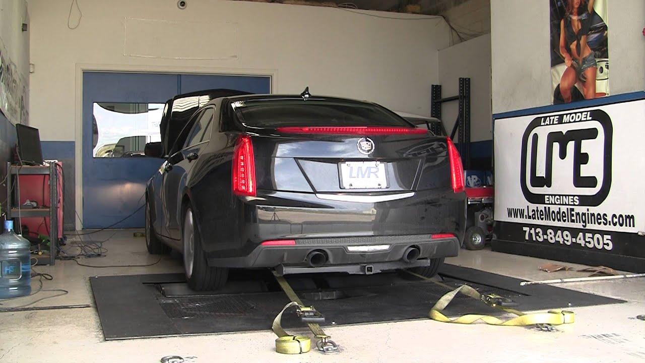 Cadillac ATS 2.0T dyno run, tuned by Pfadt Racing - YouTube
