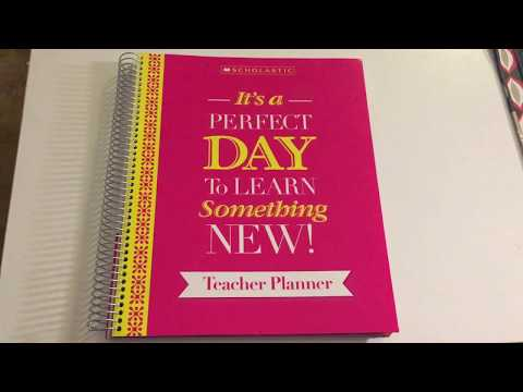 2017-2018 NEW Scholastic Teacher Planner...ITS AWESOME!