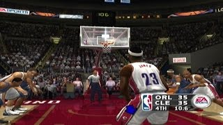 Lebron James Rookie Debut NBA Live 2004 Epic Duel TMAC Crazy Final Minute!!