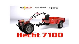 Mikrociągnik z przyczepką i akcesoriami HECHT 7100 SET