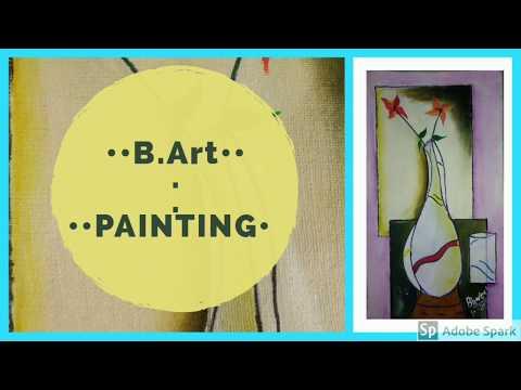 jute canvas painting | pot | size  25×14 inch, modern art #art #painting