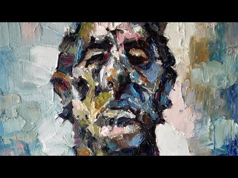 Oil Painting Portrait Demo, How To Paint A Person, Palette Knife & Brush Strokes