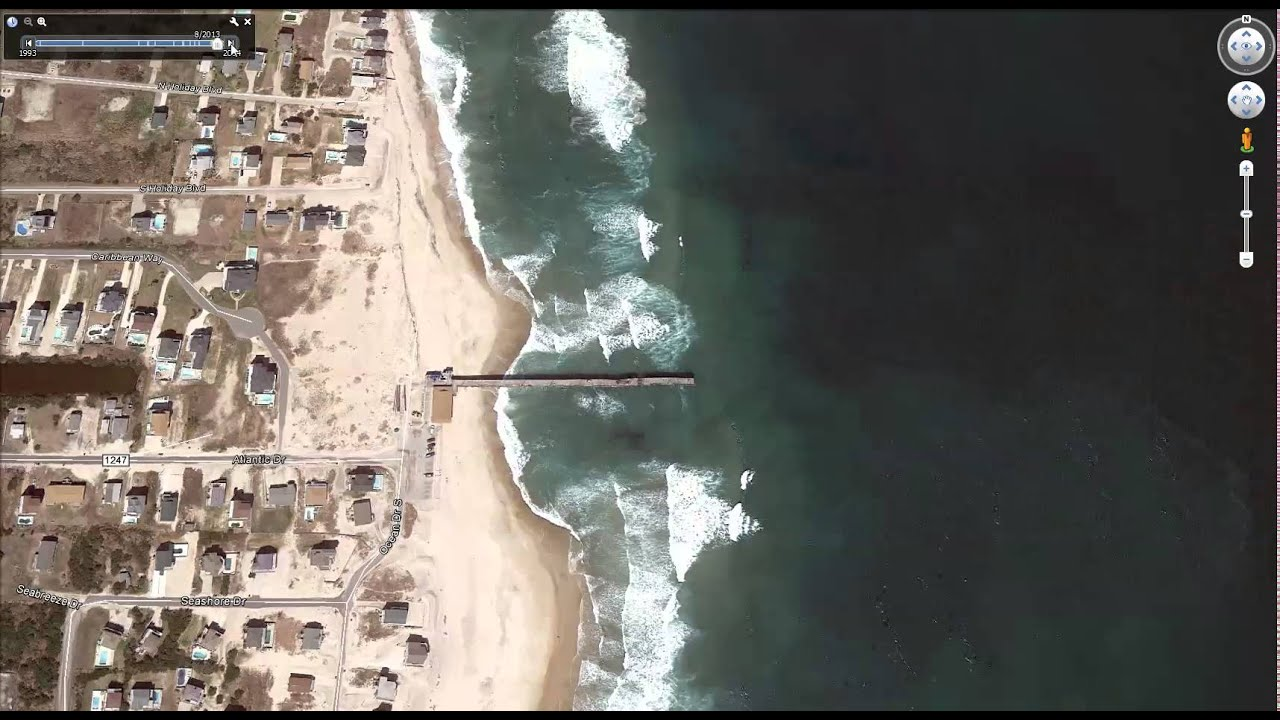Sh sh show me my house on google earth - Rodanthe Pier Outer Banks Nc 1993 2014 Google Earth Satellite Images
