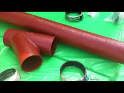 замена чугунной канализации на пластиковую киров - YouTube