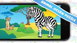 Kids Animal Jigsaw Puzzle - Fun and addictive puzzle game for boys and girls