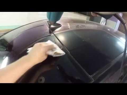 Тонирование заднего стекла (на мокрую)