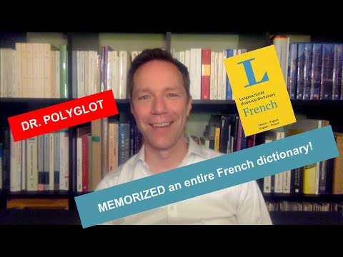 Polyglot memorized a whole French dictionary!