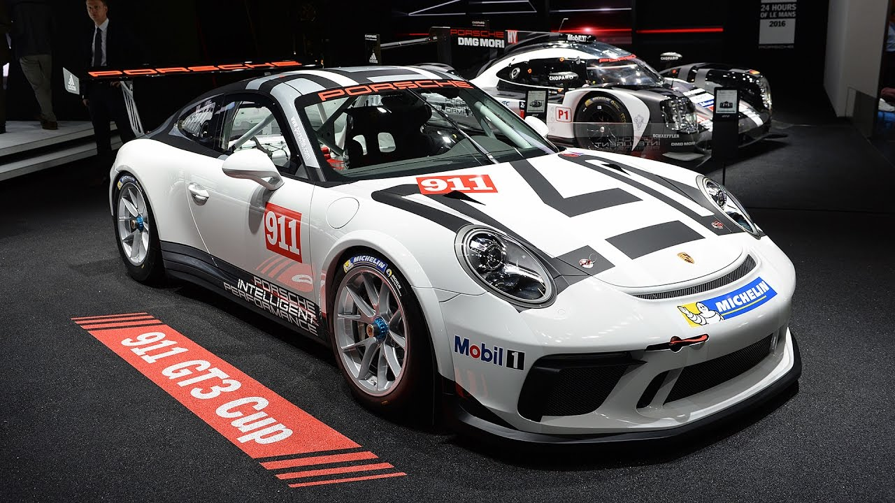 2017 porsche 911 gt3 cup paris motor show 2016 interior exterior youtube. Black Bedroom Furniture Sets. Home Design Ideas