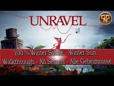 Unravel Winter sun - Wintersonne - Walkthrough - 100% Collectibles - Sammelgenstände - Deutsch