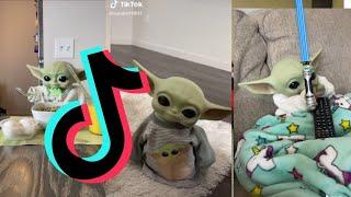 Si te ríes pierdes nivel Baby Yoda TikTok