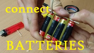 How to connect 4 batteries and 3 bateries together - life hack(, 2015-01-26T01:23:18.000Z)