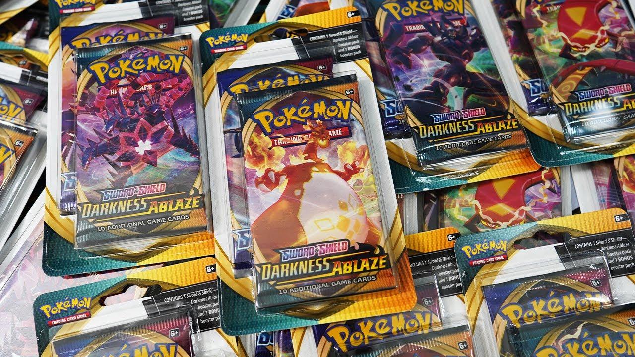 Opening 20x Pokemon Darkness Ablaze Bonus Blister Packs!