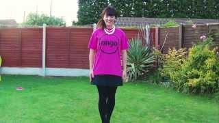 Fran Rhodes, Ice Bucket Challenge wearing her Ongo T-shirt