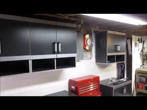 Rubbermaid Fasttrack Garage Laminate 7 Piece Cabinet Set With Shelving Review You