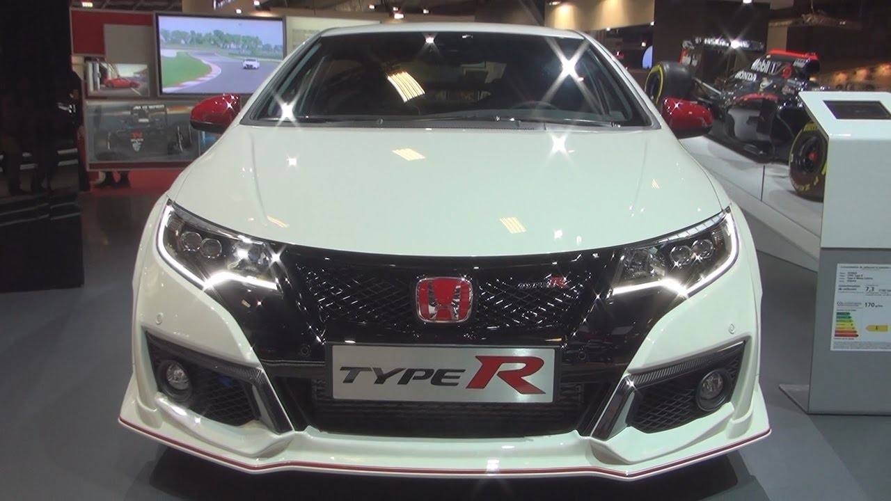 honda civic type r 2 0 i vtec white edition 2017 exterior and interior in 3d youtube. Black Bedroom Furniture Sets. Home Design Ideas