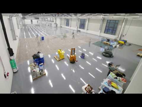 Industrial Flooring   Time Lapse Documentation - PanTerra.tv