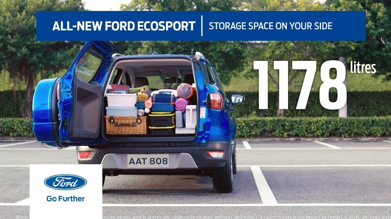 All-New Ford EcoSport | Boot space on your side - YouTube