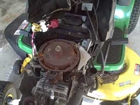 hqdefault part 1 how to repair briggs john deere la115 19 5 hp engine john deere l100 wiring diagram at bayanpartner.co