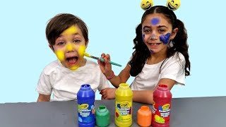 Learn Colors with Face Painting for Kids and children Nursery rhymes songs