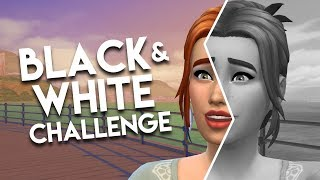 BLACK AND WHITE CAS CHALLENGE // The Sims 4: Create A Sim