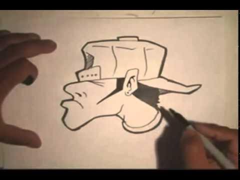 Como Dibujar Hombre Rara Graffiti  YouTube